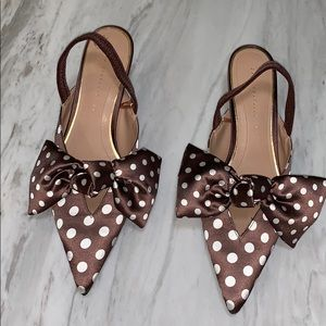 Zara Polka Dot Heels with Bow